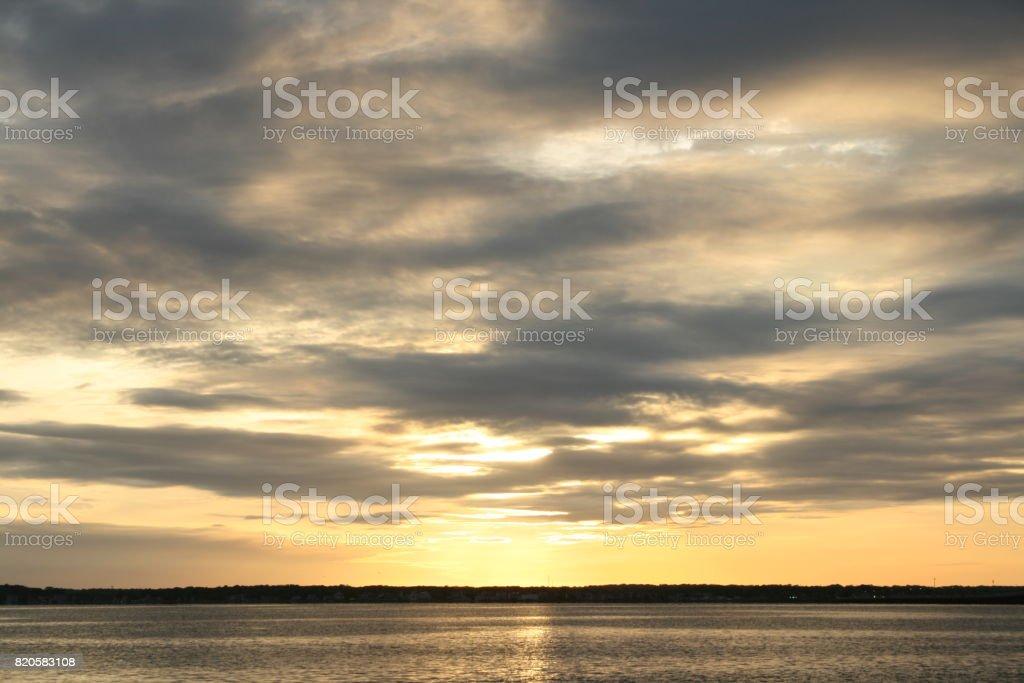 Seaside Sunset stock photo