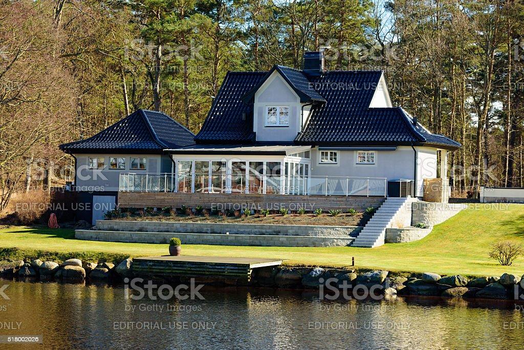 Seaside villa stock photo