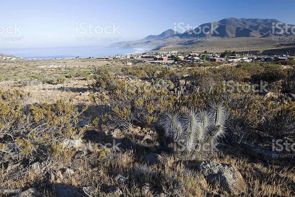 Seaside Village, Chile royalty-free stock photo