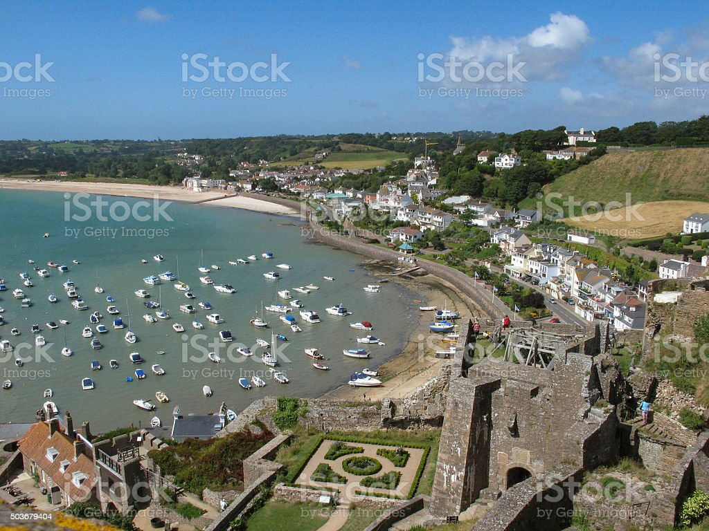 Seaside Village With Views To The Harbour stock photo