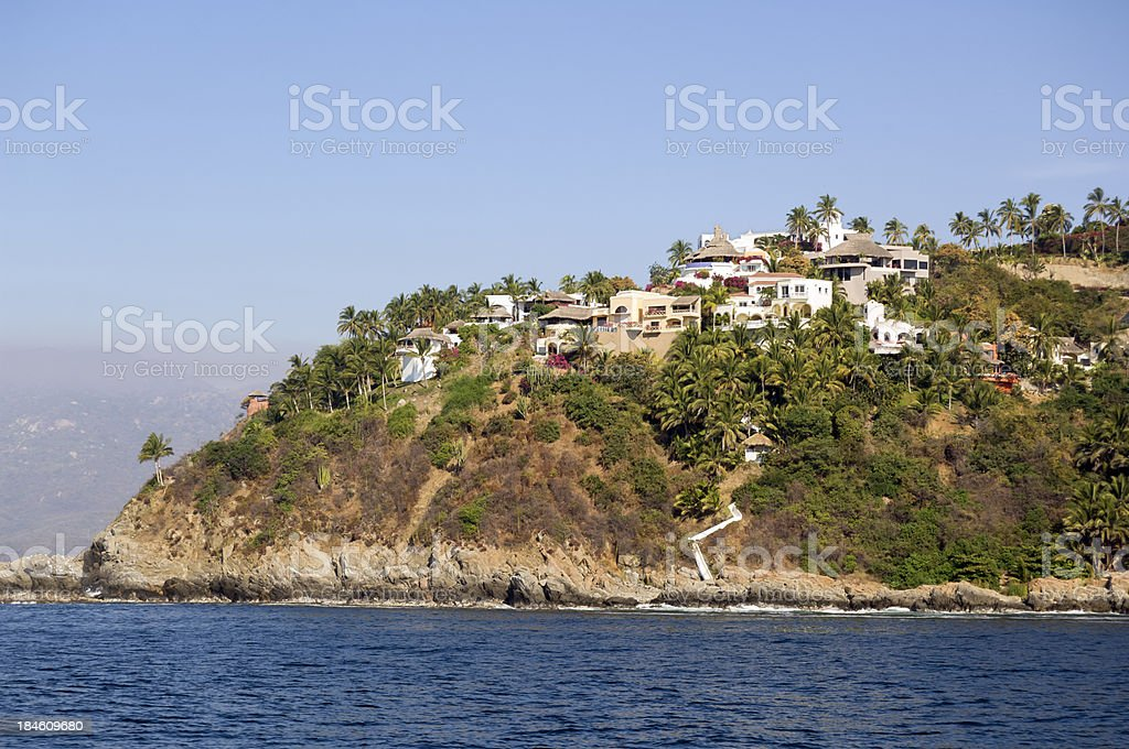 Seaside Villas stock photo