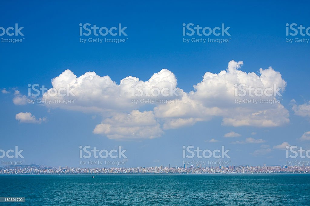 Sea,sky and the city - Istanbul royalty-free stock photo