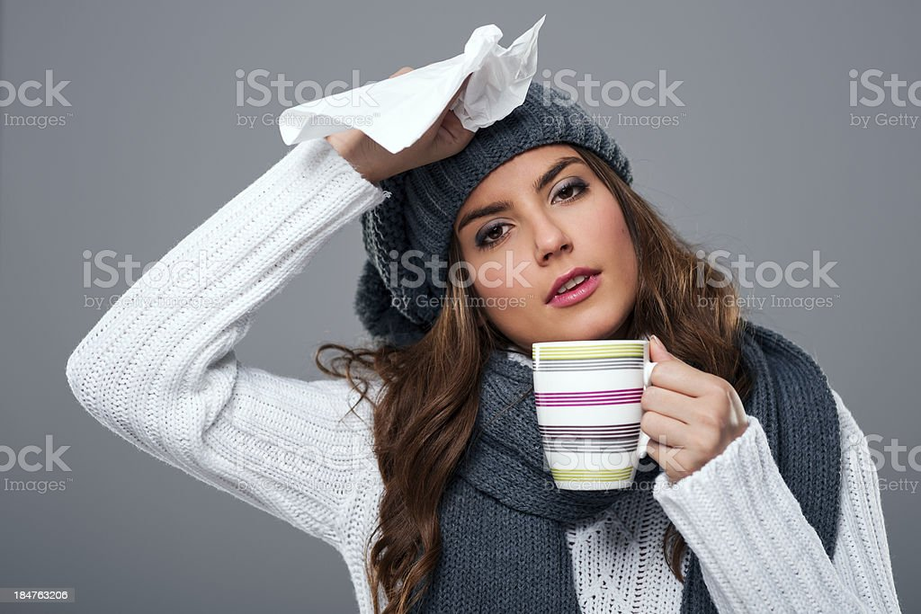 Season for cold and flu royalty-free stock photo