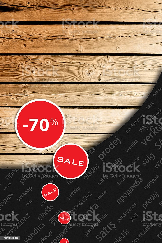 Season reduction, new big sale. stock photo