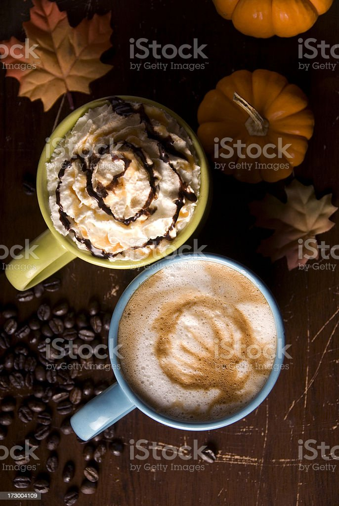 Seasonal coffee royalty-free stock photo