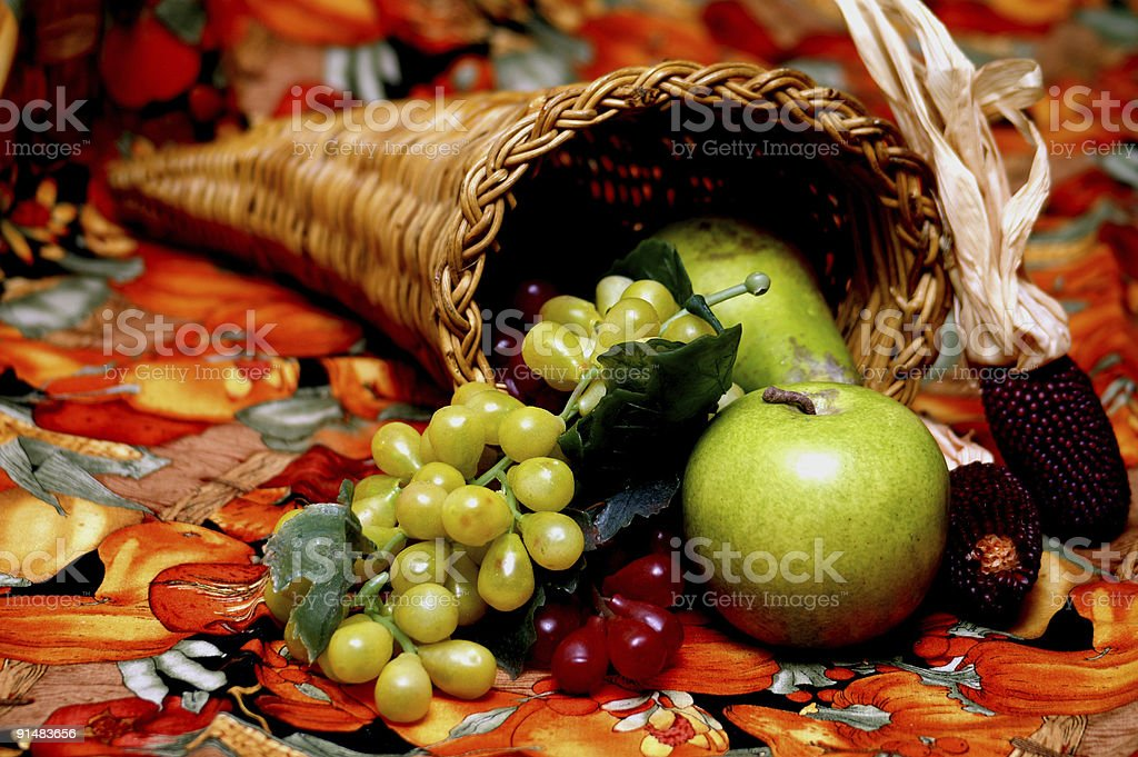 Seasonal cornucopia royalty-free stock photo