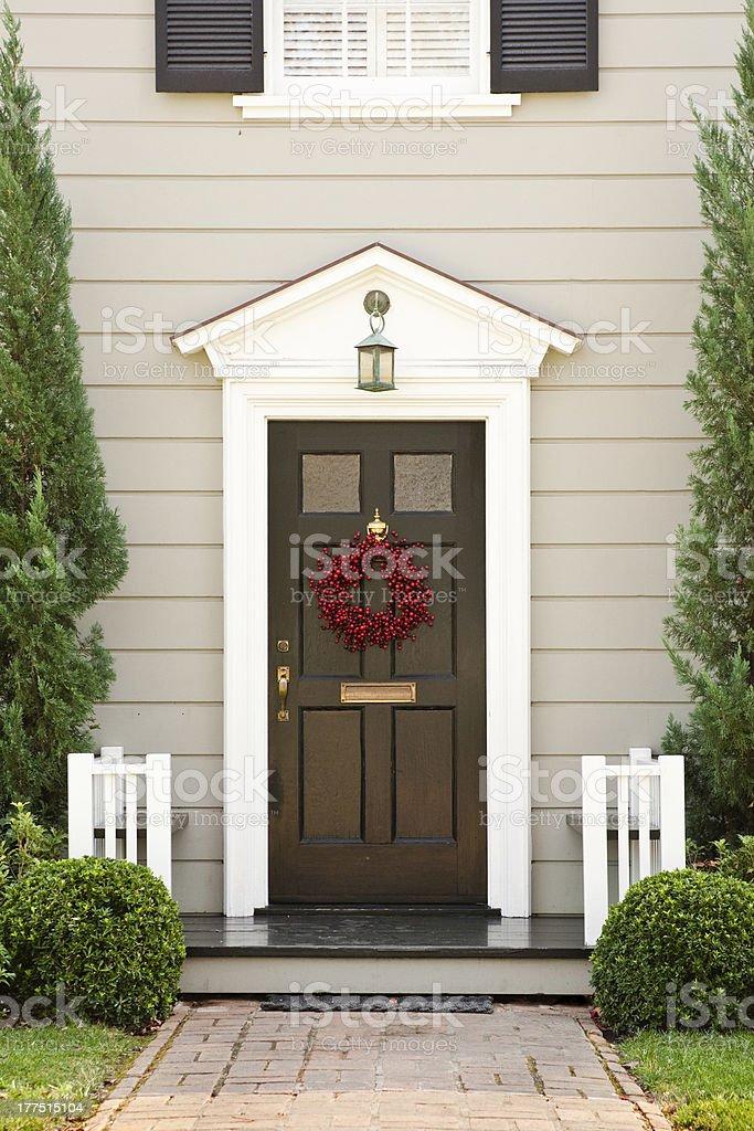 Seasonal Front Door on a Home stock photo