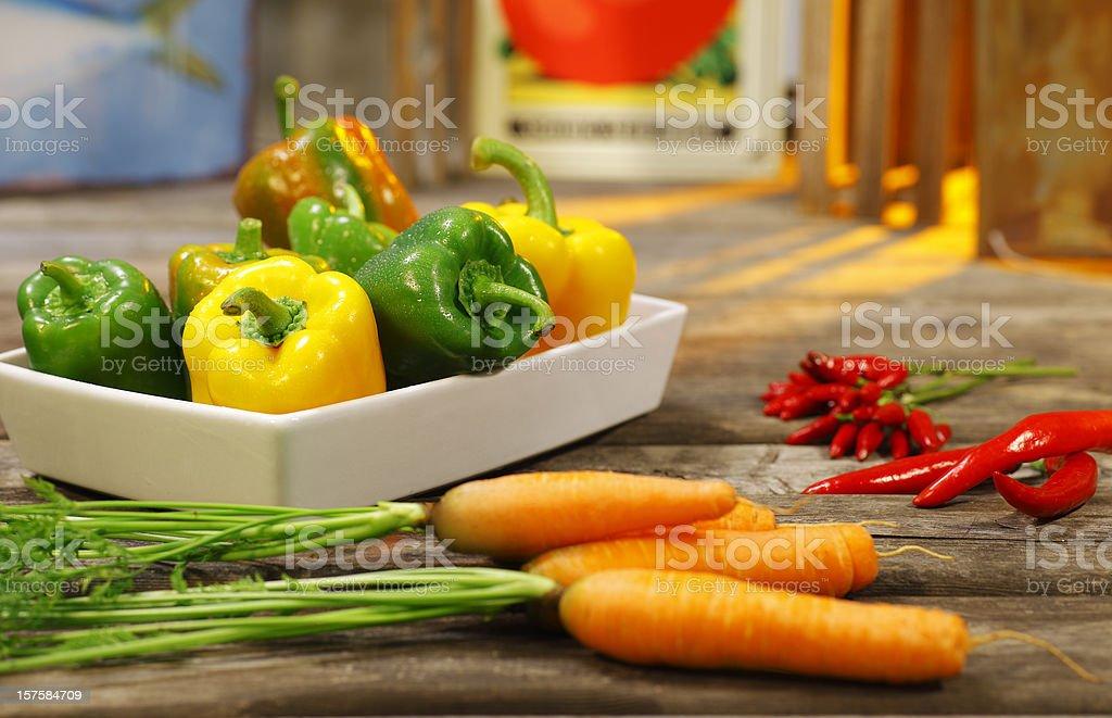 seasonal vegetables stock photo