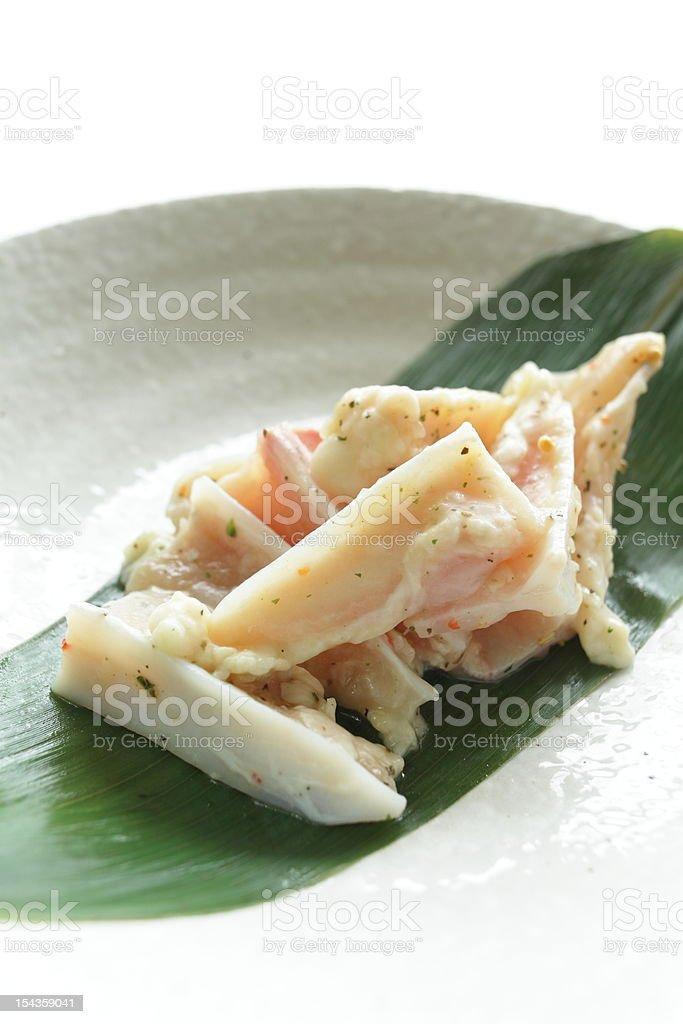 Seasoned chicken bone stock photo