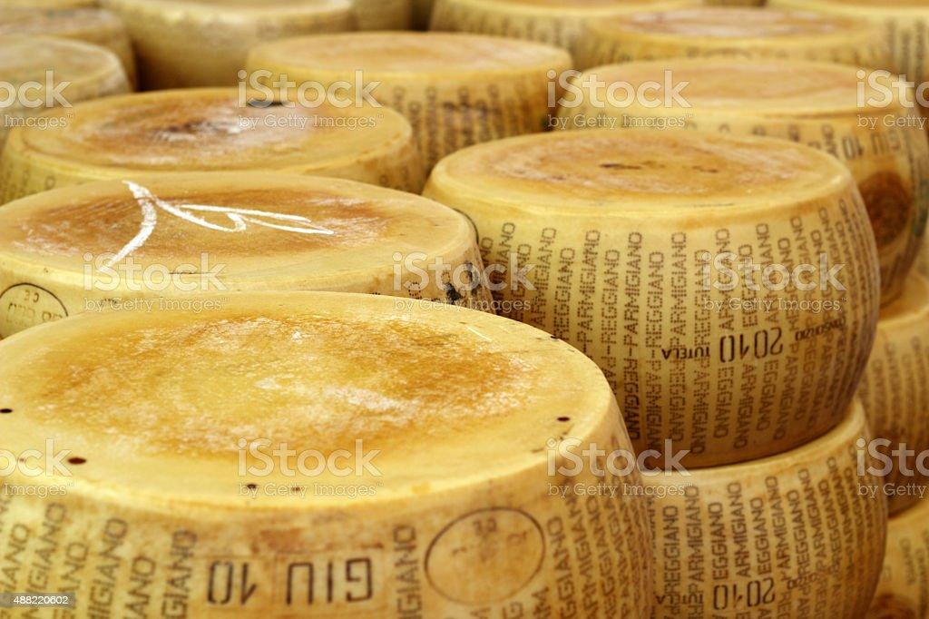 seasoned parmesan stock photo