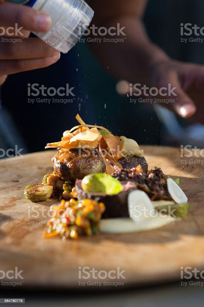 Seasoning Gourmet Barbecue stock photo