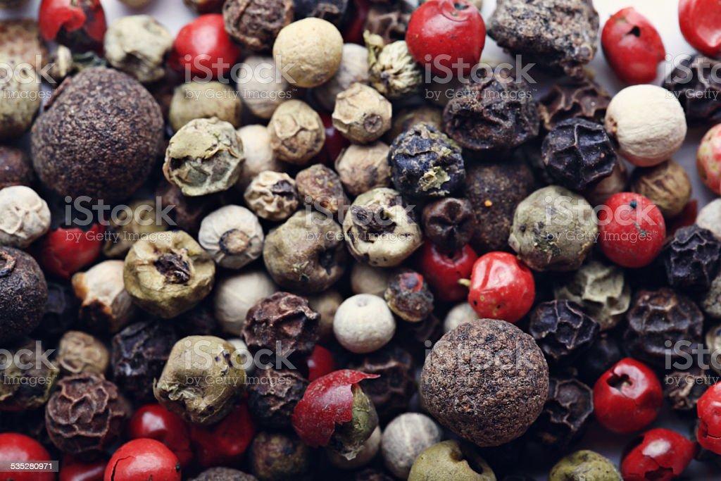 seasoning mixture of bell peppers stock photo