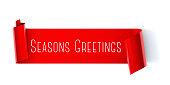 Seasons greeting scroll banner