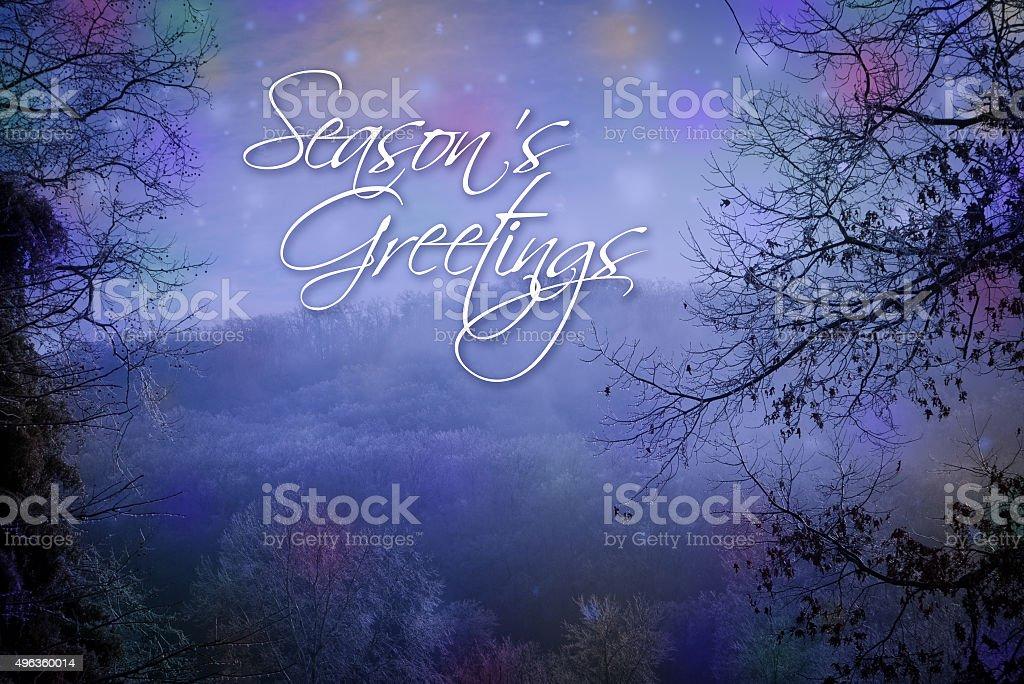 Seasons Greetings Card stock photo