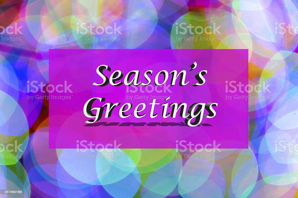 Season's Greetings royalty-free stock photo