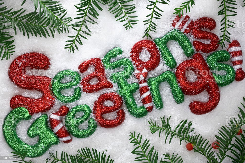 Seasons Greetings royalty-free stock photo