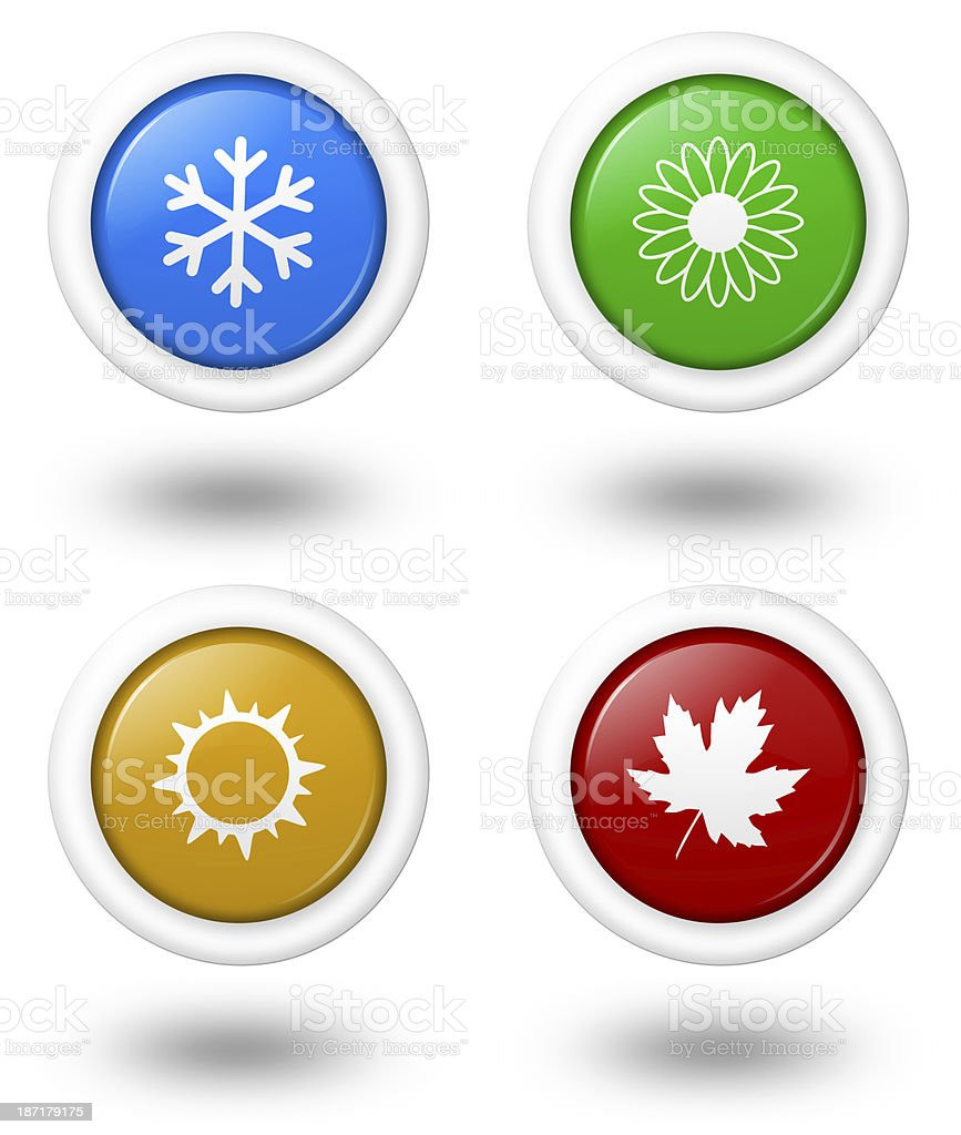 Seasons Icon Series stock photo