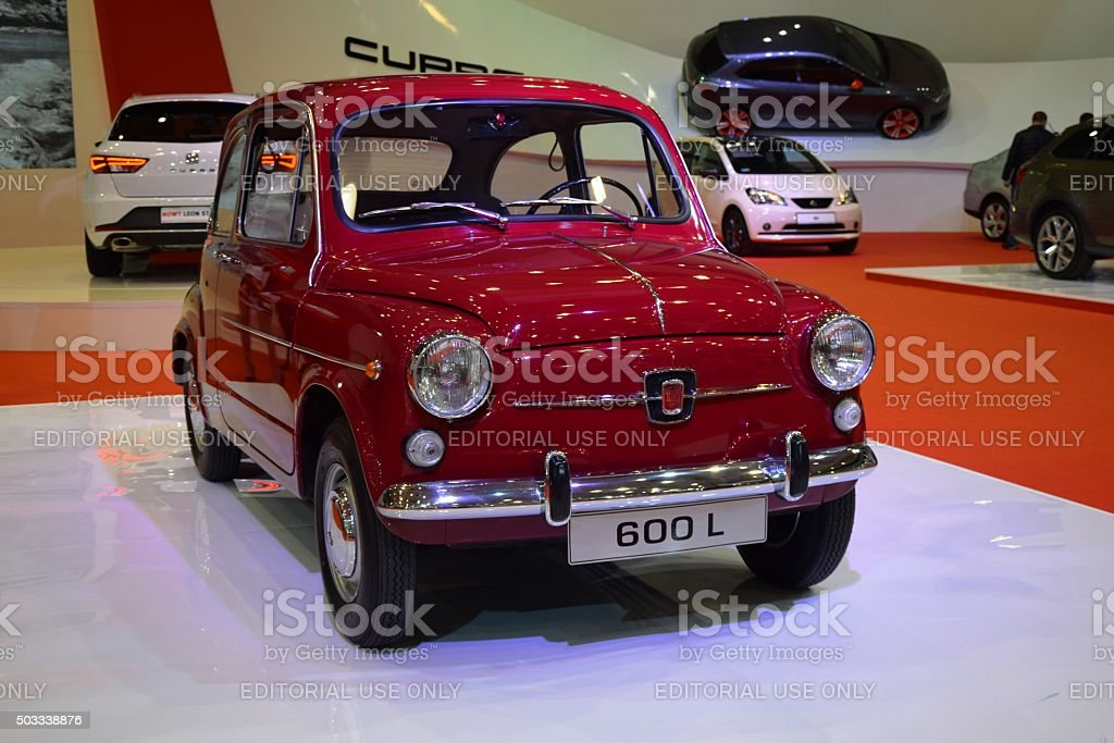 Seat 600L on the motor show stock photo