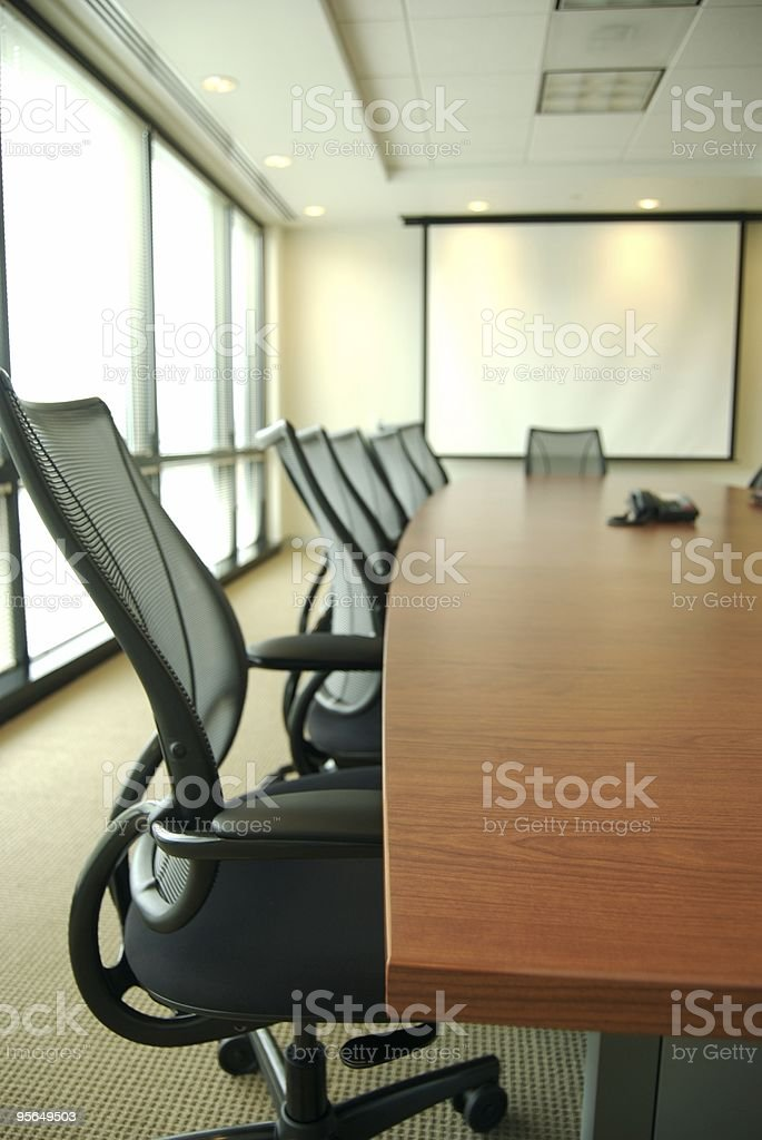 Seat at the Office Meeting royalty-free stock photo