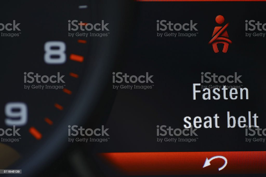 Seat belt icon stock photo