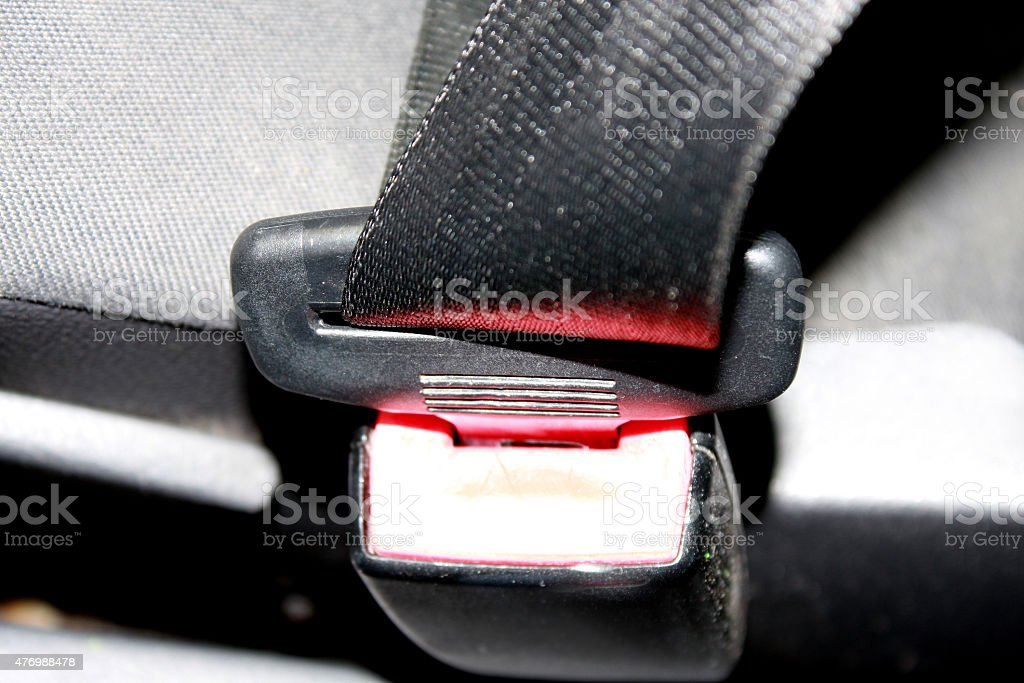 seat belt in the car stock photo