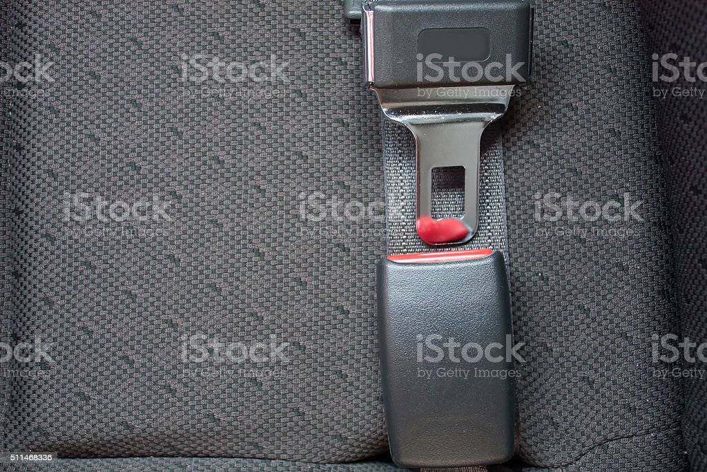 seat belts in the car for your safety stock photo