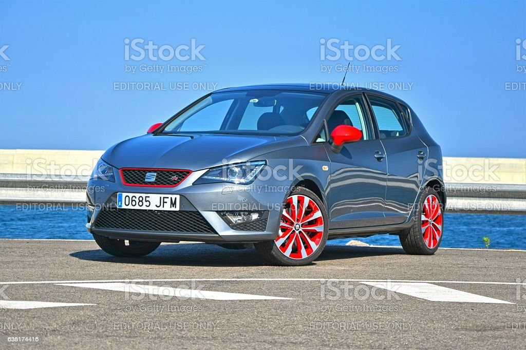 Seat Ibiza - popular small car stock photo
