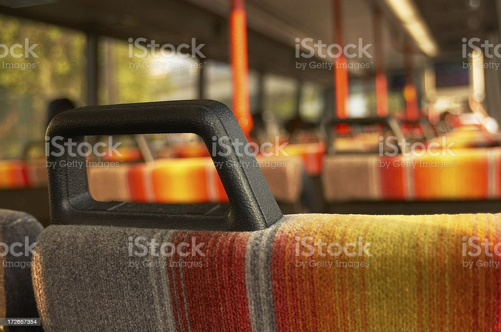 seat in bus royalty-free stock photo