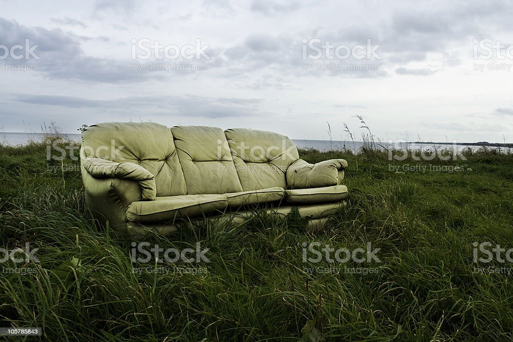 Seat in the countryside stock photo