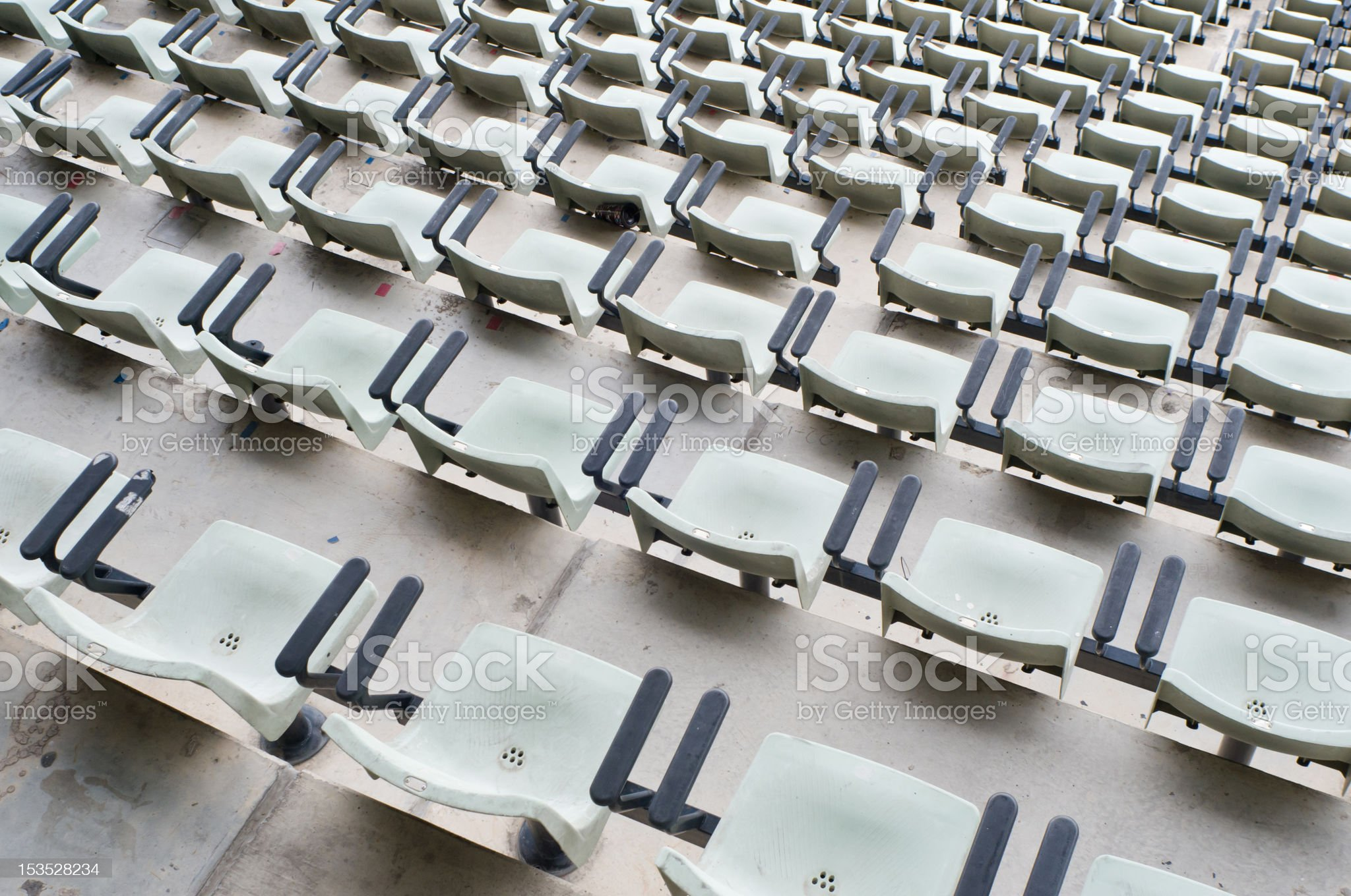 Seat in the football stadium royalty-free stock photo