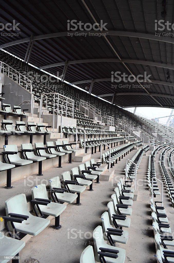 Seat in the stadium stock photo