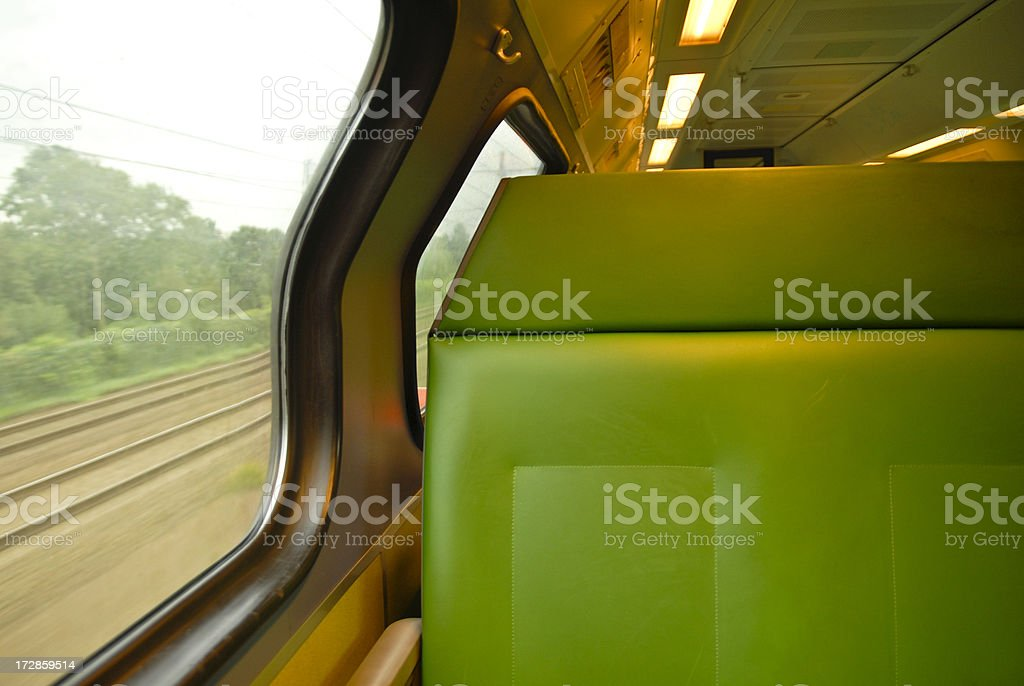 Seat on a Train royalty-free stock photo