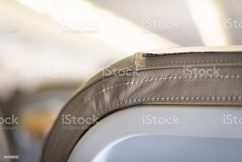 Seat on the airplane royalty-free stock photo