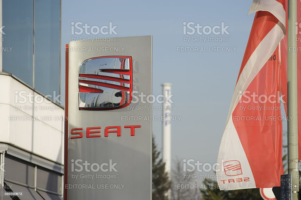 Seat Sign royalty-free stock photo