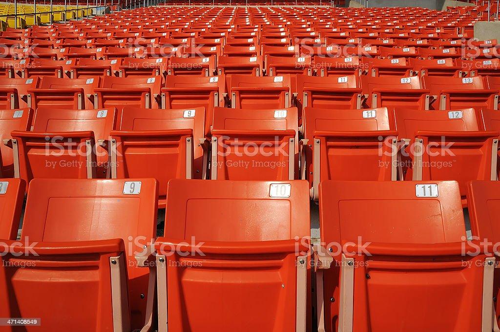 Seat stadium stock photo