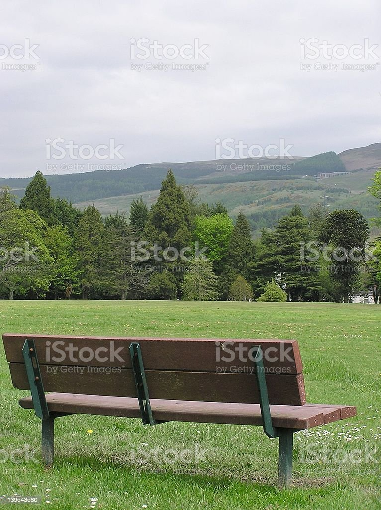 Seat With A view royalty-free stock photo
