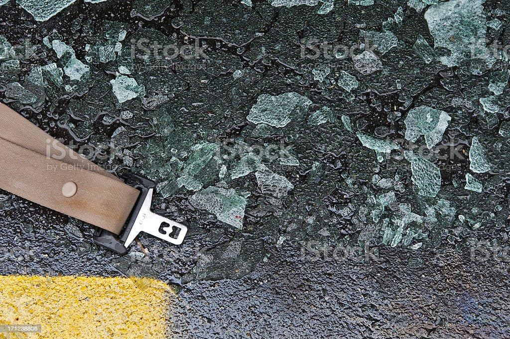 Seatbelt on the Roadway stock photo