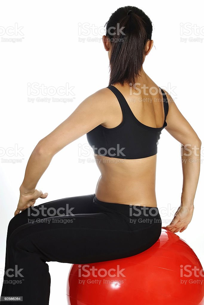 Seated Back Stretch royalty-free stock photo
