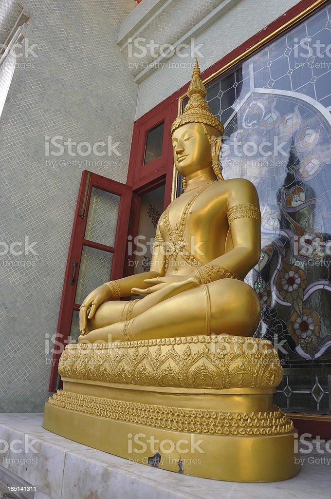Seated Buddha image royalty-free stock photo