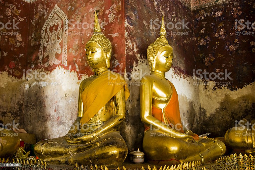 Sitzende Buddhas royalty-free stock photo