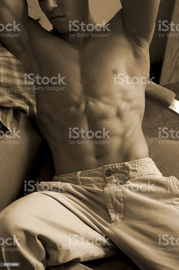 seated male royalty-free stock photo