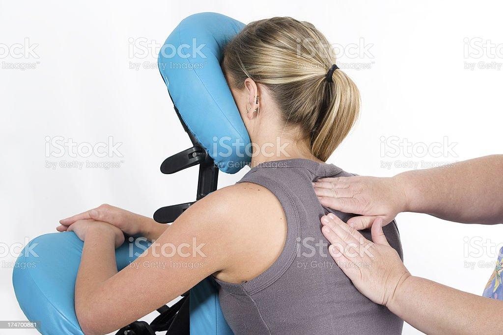 seated massage royalty-free stock photo