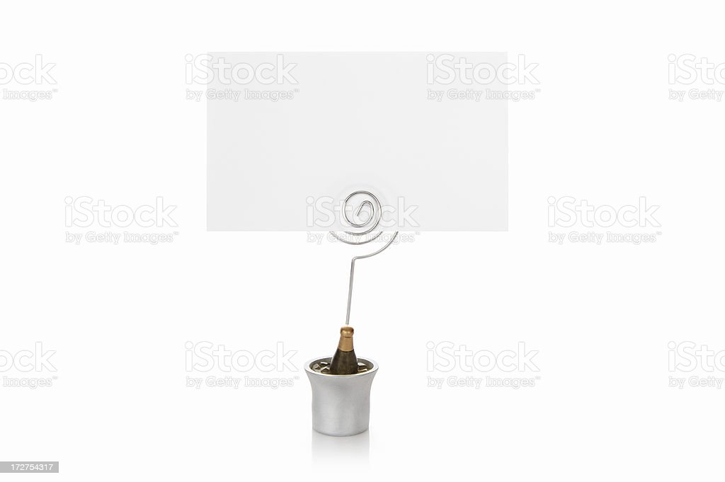 Seating place card stock photo