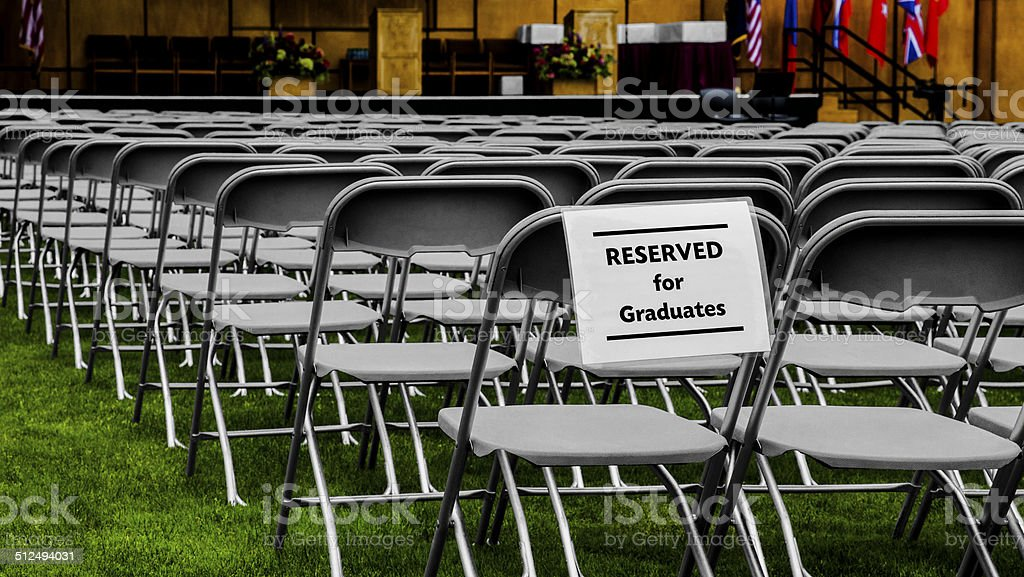 Seating Reserved For Graduates stock photo