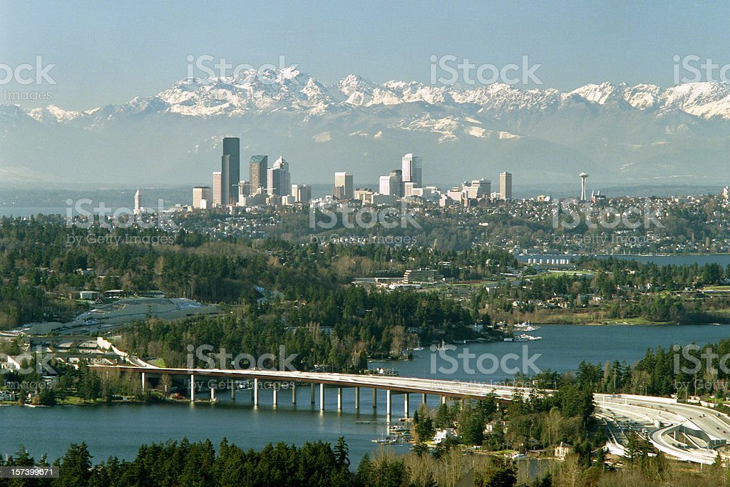 Seatle Skyline royalty-free stock photo