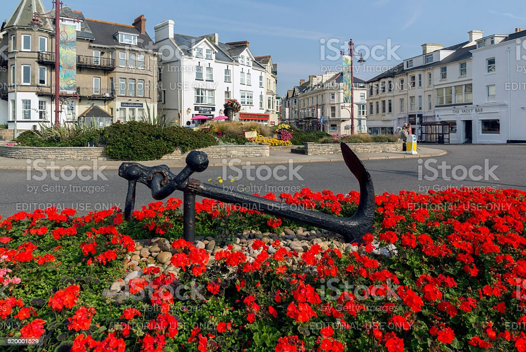 Seaton Town Center Devon stock photo