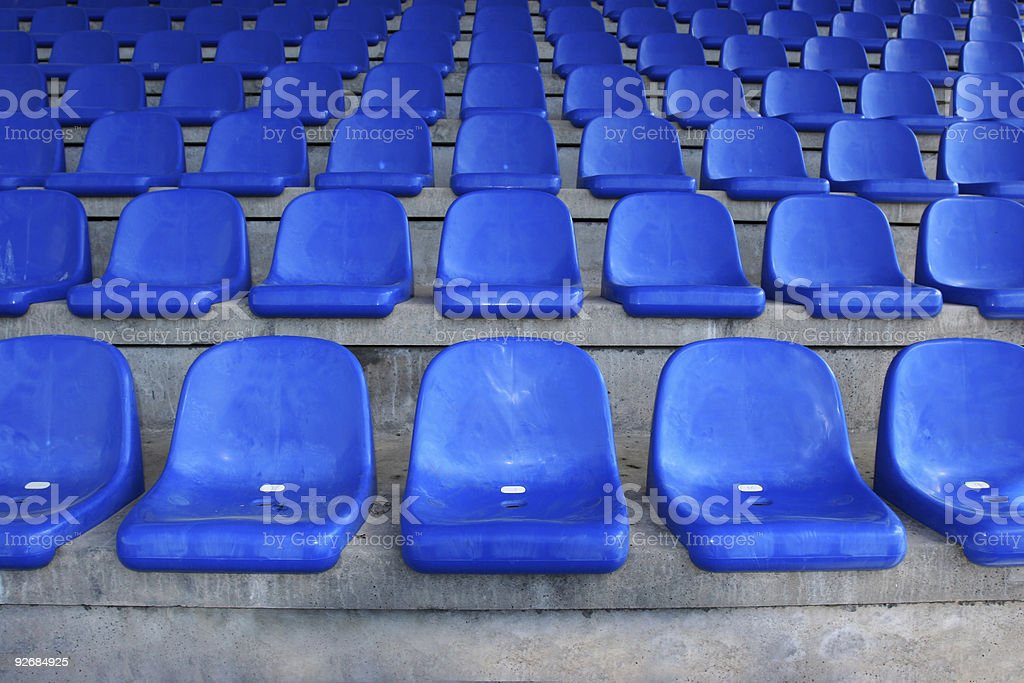 Seatrows in stadium royalty-free stock photo