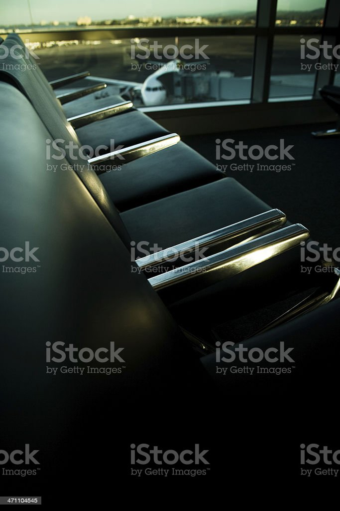 Seats and Airplane stock photo