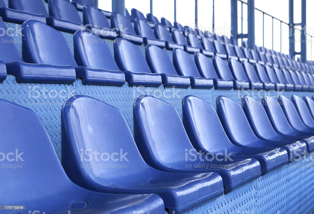 seats at stadium royalty-free stock photo