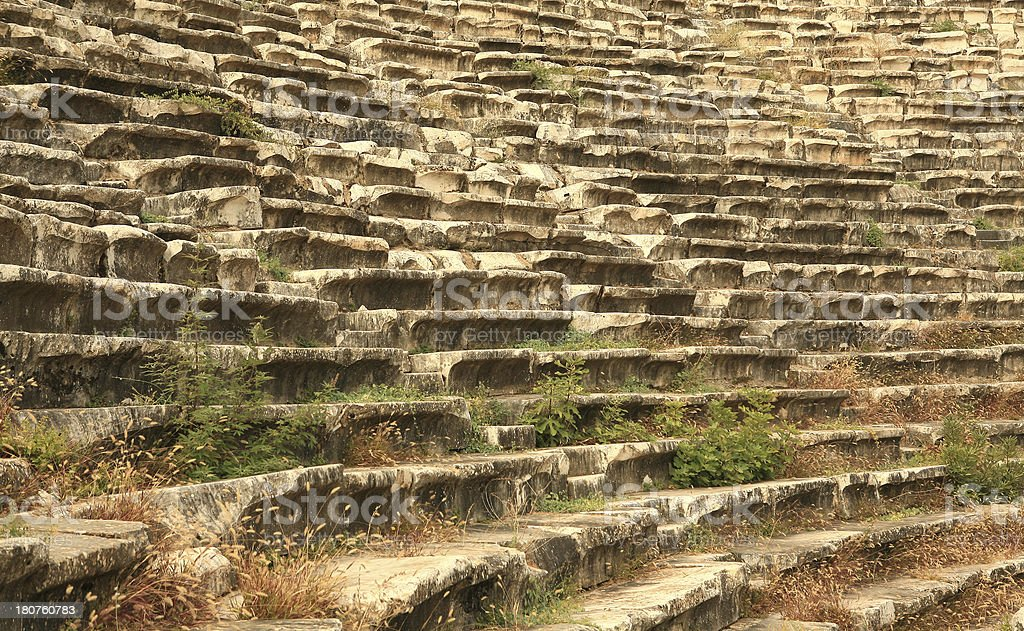 Seats at The Theatre of Aphrodisias royalty-free stock photo
